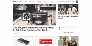 high snobiety 302x152 International Fashion Blogs