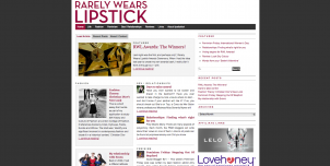 rarely wears lipstick 302x152 International Fashion Blogs